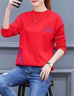 tanie Swetry damskie-Damskie Codzienny Solidne kolory Długi rękaw Regularny Pulower Biały / Czarny / Czerwony M / L / XL