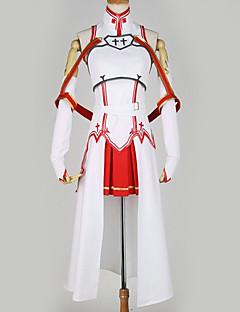 """billige Anime Kostymer-Inspirert av Sword Art Online Asuna Yuuki Anime  """"Cosplay-kostymer"""" Cosplay Klær Spesielt design Topp / Skjørte / Mer Tilbehør Til Herre / Dame"""
