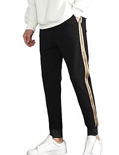 billige Herrebukser og -shorts-menns slanke chinos / joggesko bukser - solid farget svart