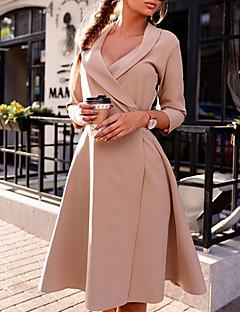 cheap Women's Dresses-Women's Daily Basic A Line Dress Black Beige Purple M L XL