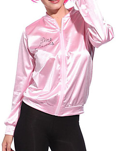 cheap Women's Outerwear-Women's Daily Fall & Winter Regular Jacket, Solid Colored Round Neck Long Sleeve Acrylic / Polyester Pink M / L / XL