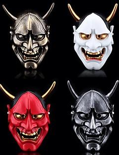 baratos Máscaras-Máscara de Hannya Omen japonesa Natal Prata / Vermelho / Dourado Resina Festa Acessórios para Cosplay Natal / Carnaval / Baile de Máscaras Fantasias