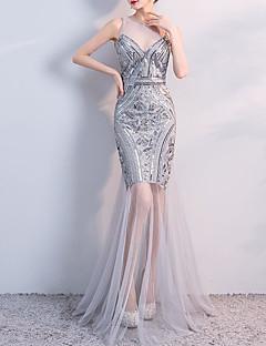cheap Evening Dresses-A-Line   Mermaid   Trumpet Jewel Neck Floor Length  Tulle. Lightning Sale ... 04cebce3deb7