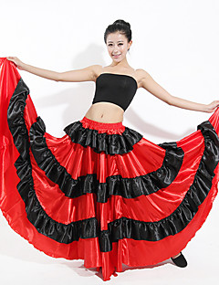 billige Nyheter-Latin Dans Bunner / Flamenco Dame Ytelse Spandex Ruchiing / Kombinasjon Levert Skjørt