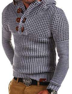 cheap Men's Tops-Men's Daily Solid Colored Long Sleeve Regular Pullover Dark Gray / Army Green / Light gray XL / XXL / XXXL