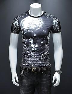 billige Bestselgere-T-skjorte Herre - Fargeblokk / Hodeskaller, Trykt mønster Gatemote / Punk & Gotisk