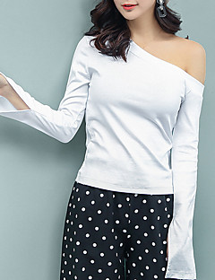 női póló - egyszínű vékony színű 149ef27716