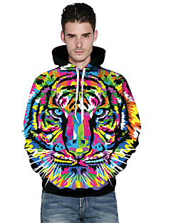 cheap Men's Hoodies & Sweatshirts-Men's Street chic Hoodie - Cartoon Rainbow XL