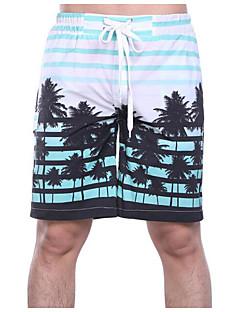 Pantalones cortos delgados de talla asiática para hombres - geométricos    color verde claro claro 1a424275b17