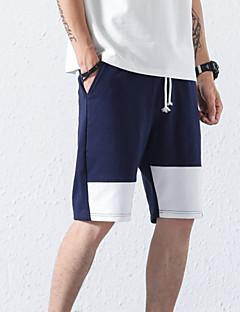 billige Herrebukser og -shorts-menns asiatiske størrelse shorts bukser - farge blokk svart