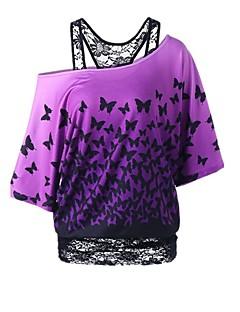 economico Top e completi da donna-maglia sottile da donna - girocollo tinta unita
