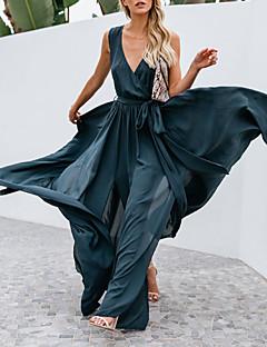 Χαμηλού Κόστους Γυναικεία Φορέματα-γυναικείο φόρεμα maxi σιφόν βαθιά v  ανοιχτό γκρι φούξια σκούρο γκρι b144753f0fb