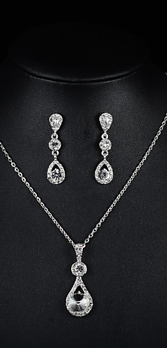 6dd06aaaa Dámské Šperky Set Módní Zahrnout Náhrdelník / náušnice Svatební šperky  Soupravy Stříbrná Pro Svatební Párty