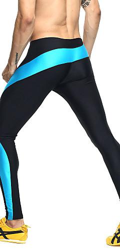 abordables -Homme Mosaïque Pantalon de Compression Collants de Course Running Des sports Bloc de Couleur Elasthanne Vêtements de Compression / Sous maillot Collants Fitness Entraînement de gym Exercice Tenues de