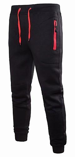 abordables -Homme Cordon Pantalon Jogger Des sports Couleur unie Coton Pantalons / Surpantalons Bas Entraînement de gym Tenues de Sport Poids Léger Séchage rapide Micro-élastique Mince