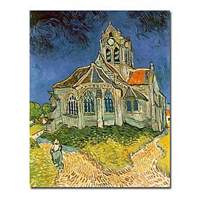 billige Van Gogh Malerier-Hang malte oljemaleri Håndmalte - Kjent Moderne Inkluder indre ramme / Stretched Canvas