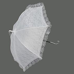 """levne Deštníky-s rukojetí ve tvaru háčku Svatební Deštník Deštníky 62 cm (cca 24,4"""")"""