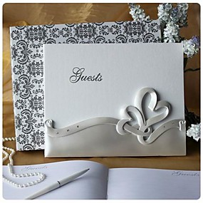 cheap Gifts & Decorations-Double Hearts Wedding Guest Book In Resin