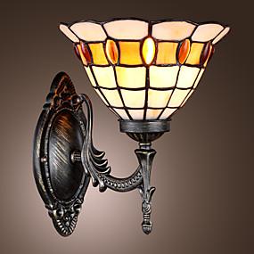 abordables Lampe Tiffany-PEACH - Lampe Murale Tiffany - 1 slot à ampoule
