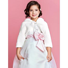 f920eea7534e Manica lunga Pelliccia sintetica Matrimonio   Da sera Coprispalle in  pelliccia   Coprispalle per bambini Con Coprispalle