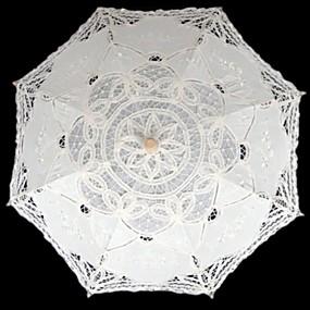 """levne Deštníky-rovná rukojeť Krajka Svatební Plesová maškaráda Deštník Deštníky 76 cm (cca 29,9"""")"""