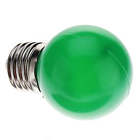 billige Globepærer med LED-1pc 0.5 W 30 lm E26 / E27 LED-globepærer G45 7 LED perler Dyp Led Dekorativ Grønn 100-240 V / RoHs