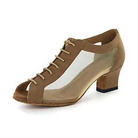 povoljno Plesne cipele-Žene Umjetna koža Moderna obuća / Standardni Sandale Kockasta potpetica Moguće personalizirati Crna / Zlatna / EU43
