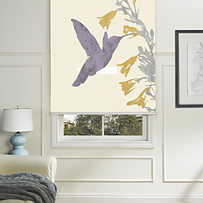 cheap Blinds & Shades-Blinds  Roller Shade Eco-friendly Mount Inside Painting 100% Polyester