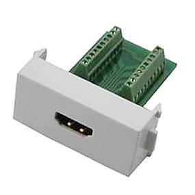 お買い得  -0.5-n86-600k女性のHDMI V1.4アダプタ無料溶接モジュールソケットの壁パネル支持3D - 緑+白