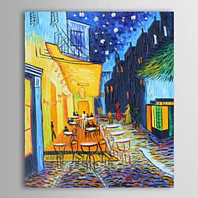 abordables Tableaux de Van Gogh-peint à la main peinture à l'huile paysage portrait la terrasse du café-vincent van gogh toile tendue