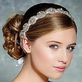 baratos Tiaras-Strass / Seda Headbands / Decoração de Cabelo com Floral 1pç Casamento / Ocasião Especial Capacete