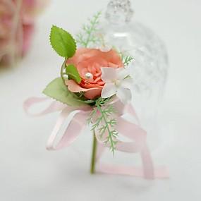 """baratos Flores-Bouquets de Noiva Alfinetes de Lapela Casamento / Festa / Noite Seda / Algodão 3.54""""(Aprox.9cm)"""