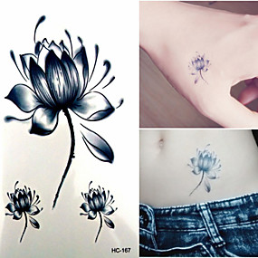 cheap Temporary Tattoos-1 pcs Temporary Tattoos Waterproof / Non Toxic Paper Tattoo Stickers / Lower Back
