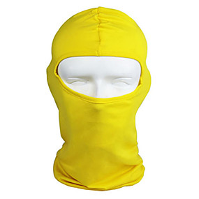 cheap Balaclavas & Face Masks-WEST BIKING® Balaclava Solid Color Waterproof Breathable Ultraviolet Resistant Dust Proof Bike / Cycling Black Gray Yellow Winter for Men's Women's Adults' Camping / Hiking Climbing Cycling / Bike
