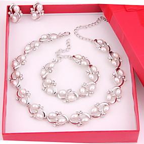 baratos Jóias-Mulheres Outros Conjunto de jóias Brincos / Colares / Braceletes - Regular Para Casamento / Festa / Ocasião Especial