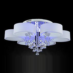 halpa Plafondit-Ecolight™ 6-Light Uppoasennus Tunnelmavalo Galvanoitu Metalli Akryyli Kristalli, LED 220-240V RGB LED-valonlähde mukana / Integroitu LED / E26 / E27