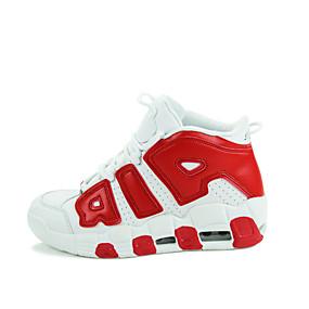 abordables Chaussures de Course Femme-Homme Femme Chaussures Similicuir Printemps Automne Basketball Lacet pour Noir Blanc Rouge Bleu