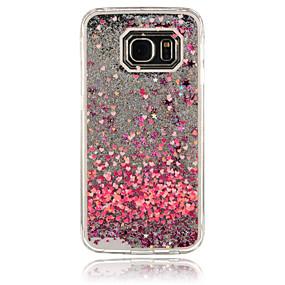 halpa Puhelimen kuoret-Etui Käyttötarkoitus Samsung Galaxy S6 edge / S6 / S5 Virtaava neste Takakuori Sydän PC