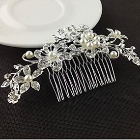 baratos Tiaras-Liga Pentes de cabelo / Ferramenta de cabelo com 1 Casamento / Ocasião Especial Capacete