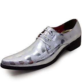 voordelige Wijdere maten schoenen-Heren Formele Schoenen Lakleer Lente / Herfst Oxfords Zwart / Zilver / Feesten & Uitgaan / Feesten & Uitgaan / ulko- / Jurk schoenen