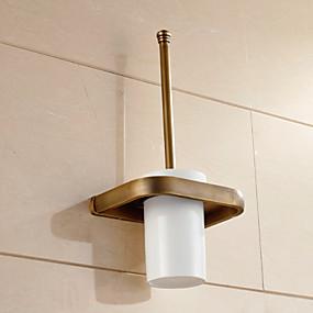 cheap Bath Fixtures-Toilet Brush Holder Neoclassical Brass 1 pc - Hotel bath