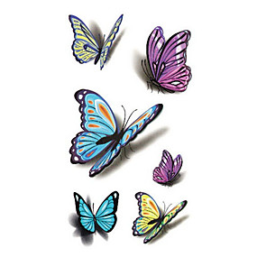 cheap Tattoo Stickers-sexy-waist-shoulder-water-transfer-tattoo-decal-waterproof-temporary-tattoo-sticker-colorful-butterfly-fake-tattoo