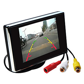 economico Frankfurt International Auto Accessories Show-3,5 pollici HD auto monitor TFT-LCD retrovisore con supporto inversione di alta qualità della fotocamera di backup