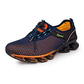 hesapli Erkek Atletik Ayakkabıları-Erkek Ayakkabı Tül Bahar / Sonbahar Rahat Atletik Ayakkabılar Koşu Atletik / Günlük için Bağcıklı Koyu Mavi / Navy Mavi