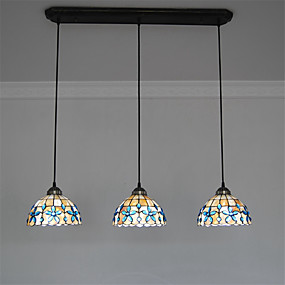 abordables Lampe Tiffany-3 lumières Lampe suspendue Lumière dirigée vers le bas Autres Métal Coquille Style mini 110-120V / 220-240V Ampoule non incluse / E26 / E27