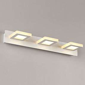 cheap Wall Lights-Simple / LED / Modern / Contemporary Wall Lamps & Sconces Metal Wall Light 90-240V 3 W / LED Integrated Vanity Light