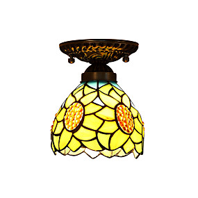 abordables Lampe Tiffany-Montage du flux Lumière dirigée vers le bas - LED Designers, Tiffany, 110-120V 220-240V, Jaune, Ampoule non incluse