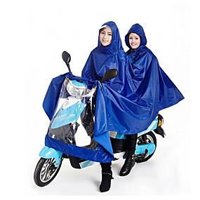 voordelige Autohoezen-miljard aan mannen en vrouwen dubbele elektrische motorfiets regenjas poncho 180T en het verhogen van uitbreiding
