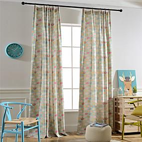 ราคาถูก ผ้าม่าน-Country ผ้าม่านปิดทึบ สองช่อง ห้องนั่งเล่น   Curtains / Bedroom