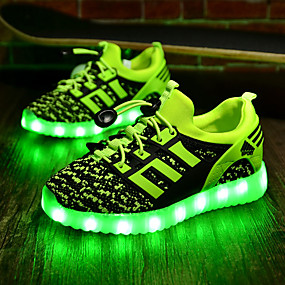 cheap LED Shoes-Boys' Shoes Fabric Spring / Fall Comfort / Light Up Shoes LED for Green / Royal Blue / Red / TPR (Thermoplastic Rubber)